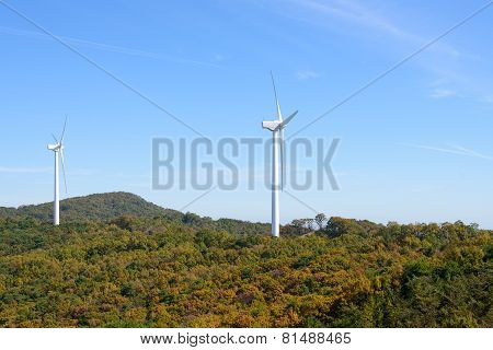 Wind Generator In A Mountain