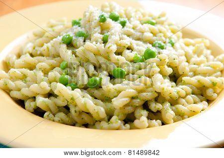 Gemelli Pasta With Pea Pesto
