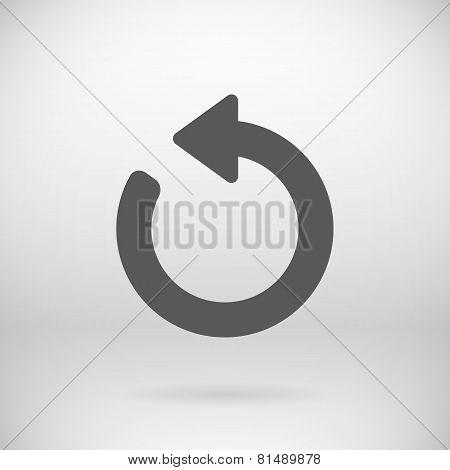 Flat Back Sign Vector Refresh Symbol Background