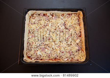 Pizza In A Baking Tray