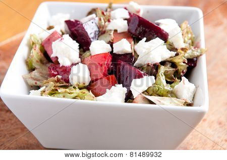 Beet Salad With Heirloom Tomato, Cucumber And Goat Cheese