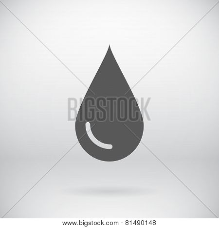 Flat Save Water Sign Vector Drop Symbol Background