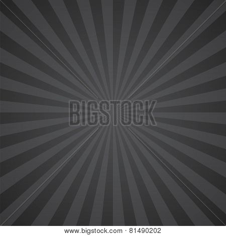 black-gray color burst background. Vector illustration