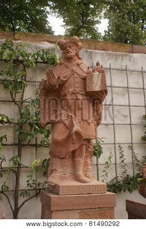 einhardus statue monastery seligenstadt