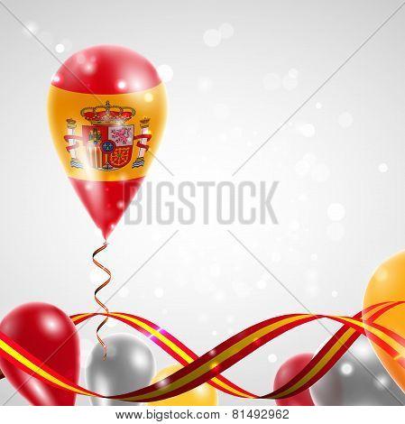 Flag of Spain on balloon