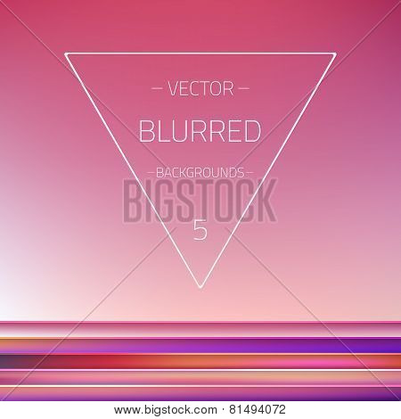 Abstract Gradient Mesh Blurred Passion Vector 5 Backgrounds Set