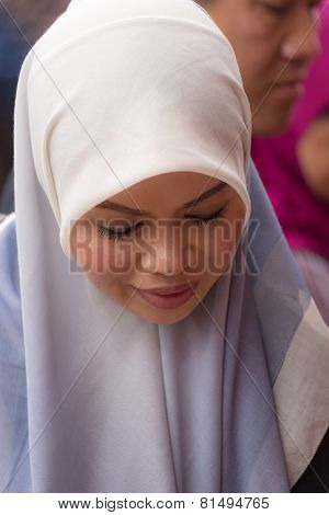 Beautiful Muslim Lady With Hijab