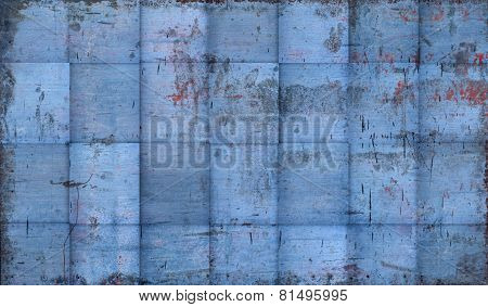 Grungy Tiled Blue Background