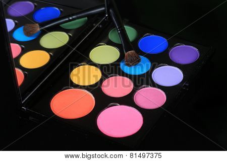 Eyeshadow Collections on Black Background