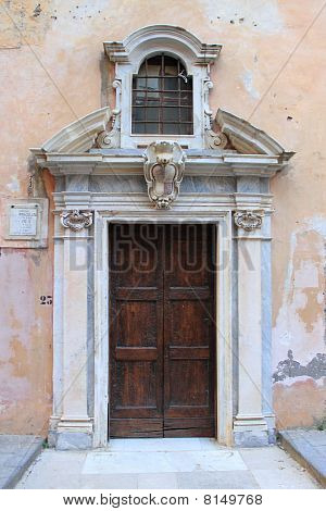 Front door of a medieval church