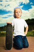 foto of skateboarding  - Active childhood - JPG