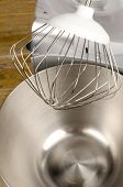 picture of food processor  - Whisk tool above the bowl of a food processor - JPG