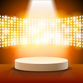 stock photo of stage theater  - Stage Lighting Background with Spot Light Effects  - JPG