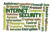 stock photo of vpn  - Internet Security word cloud on white background - JPG