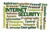 image of vpn  - Internet Security word cloud on white background - JPG