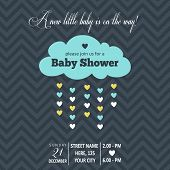 foto of pretty-boy  - baby boy shower card - JPG