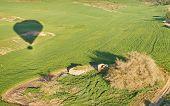 stock photo of farm land  - Ballooning over Israel  - JPG