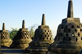 foto of breathtaking  - breathtaking sunrise in Borobudur Indonesia  - JPG