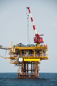picture of platform shoes  - Production platform in offshore oil and gas industry - JPG