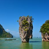 foto of james bond island  - James Bond island in Phang Nga Thailand