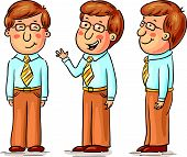 picture of angles  - Young man cartoon character at different angles - JPG