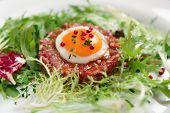 pic of tartar  - Beef tartare in plate - JPG