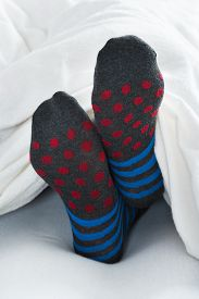 pic of stocking-foot  - Close - JPG