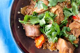 picture of jerks  - jerked chicken and quinoa with cilantro - JPG