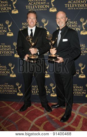 LOS ANGELES - APR 24: Mike Cassidy, Mickey Cassidy at The 42nd Daytime Creative Arts Emmy Awards Gala at the Universal Hilton Hotel on April 24, 2015 in Los Angeles, California
