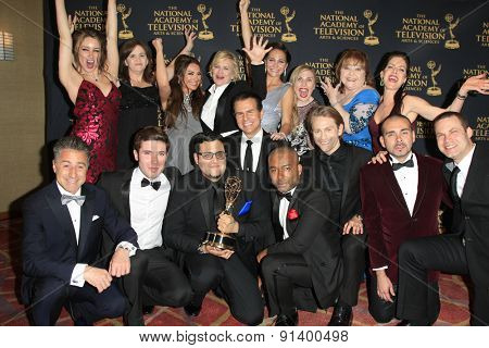 LOS ANGELES - APR 24: The Bay, cast at The 42nd Daytime Creative Arts Emmy Awards Gala at the Universal Hilton Hotel on April 24, 2015 in Los Angeles, California
