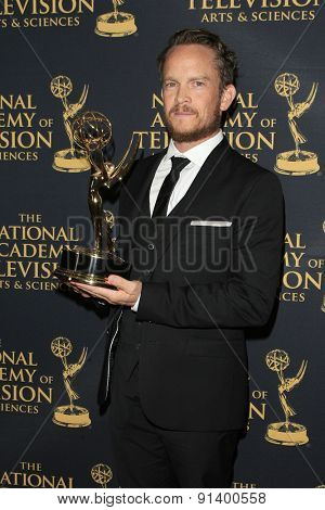 LOS ANGELES - APR 24: Ian McGlocklin at The 42nd Daytime Creative Arts Emmy Awards Gala at the Universal Hilton Hotel on April 24, 2015 in Los Angeles, California