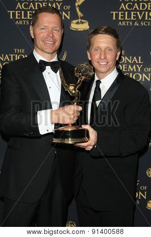 LOS ANGELES - APR 24: John Nordstrom, Brad Bell at The 42nd Daytime Creative Arts Emmy Awards Gala at the Universal Hilton Hotel on April 24, 2015 in Los Angeles, California
