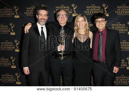 LOS ANGELES - APR 24: Preschool Animation, Peg + Cat at The 42nd Daytime Creative Arts Emmy Awards Gala at the Universal Hilton Hotel on April 24, 2015 in Los Angeles, California