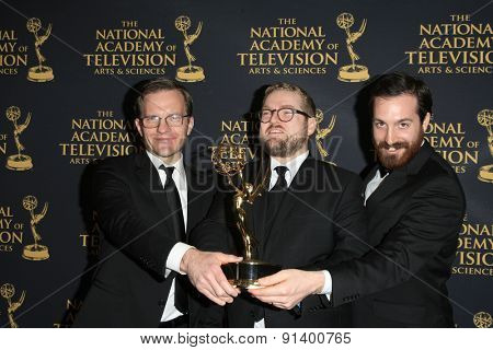 LOS ANGELES - APR 24: Mike Houston, Adam Lupsha, Daniel De Graaf at The 42nd Daytime Creative Arts Emmy Awards Gala at the Universal Hilton Hotel on April 24, 2015 in Los Angeles, California