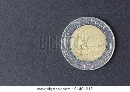 Five Hundred Lire Italian