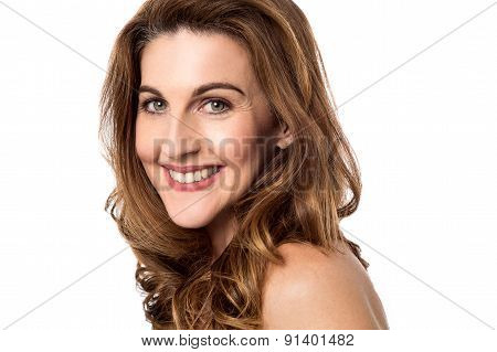 Smiling Woman Looking Into Camera