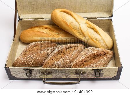 Rolls And Baguettes In A Box