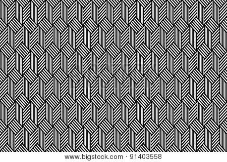 Op art pattern. Seamless geometric texture. Vector art.