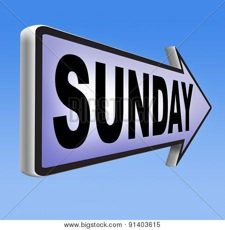 sunday sign event calendar