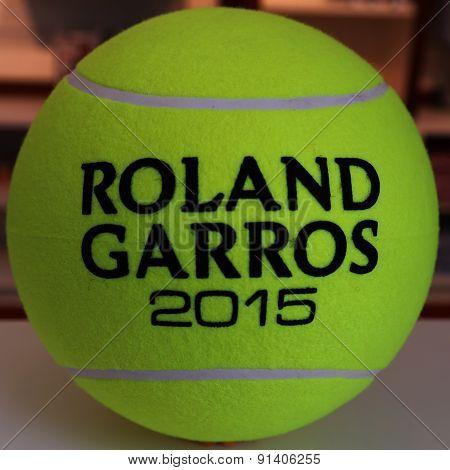 Babolat Roland Garros tennis ball at Le Stade Roland Garros in Paris
