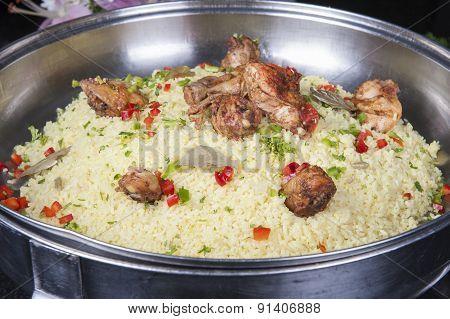 Oriental Kabsa Rice At A Hotel Restaurant Buffet