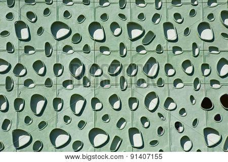 modern green building wall detail