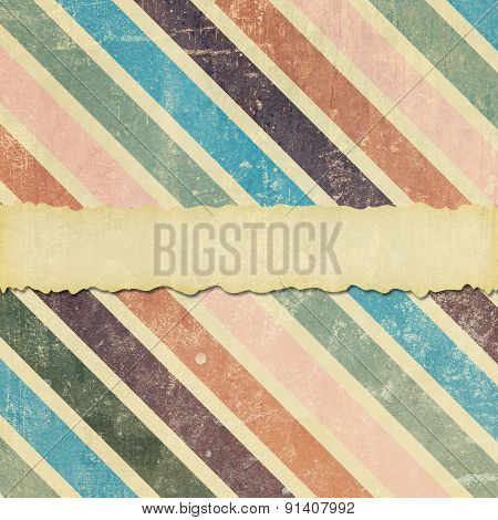 Faded, Damaged And Torn Diagonal Stripe Background