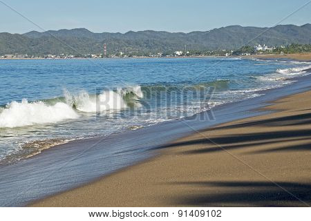 Beach On The Mexican Pacific Ocean