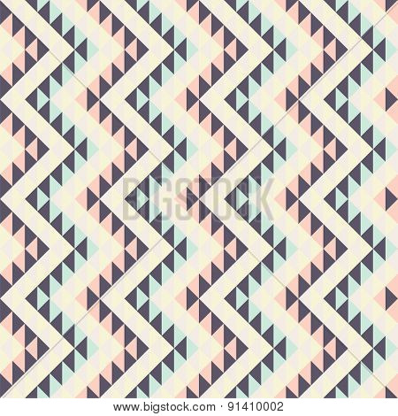 seamless pattern with ethnic geometric ornament
