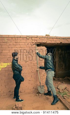 Pulling Down A Wall