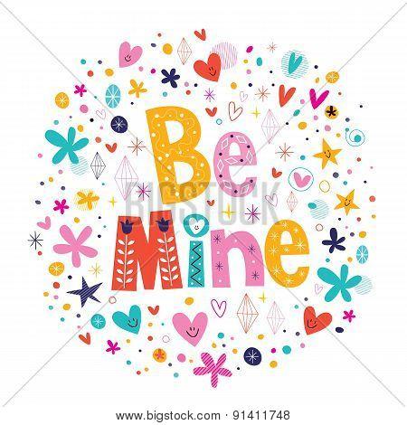 Be mine Valentine's day love card