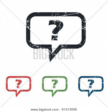 Question grunge icon set
