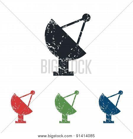 Satellite dish grunge icon set