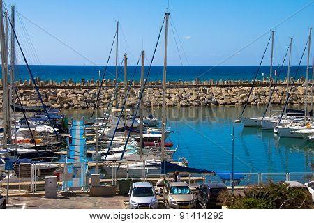 Sailing Yachts In Herzliya Marina , Israel.  I